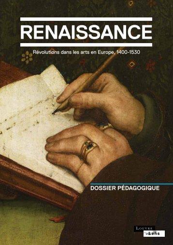Le guide pédagogique portant sur l'exposition Renaissance.