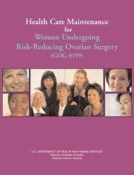 Health Care Maintenance Women Undergoing Risk-Reducing ...