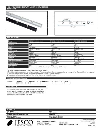 HIGH POWER LED DISPLAY LIGHT • CORVI SERIES - Jesco Lighting