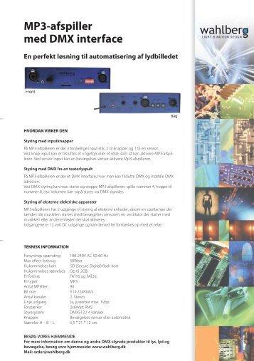 MP3-afspiller med DMX interface - Wahlberg