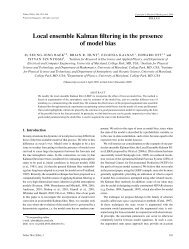 Local ensemble Kalman filtering in the presence of model bias