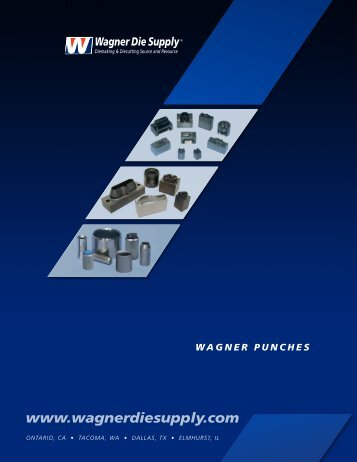 wagner punches - Wagner Die Supply