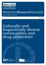Full report [PDF:546KB] (new window) - DrugInfo - Australian Drug ...