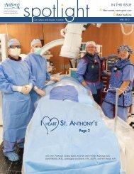 St. Anthony's Spotlight Magazine April 2013 - St. Anthony's Medical ...
