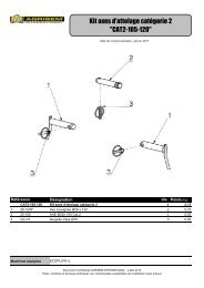 kit axes d'attelage - agrisem