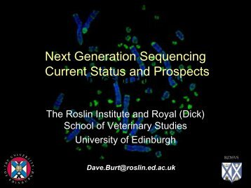 Burt, Dave - The Roslin Institute - University of Edinburgh