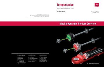Mobile Hydraulic Product Overview - MTS Sensors