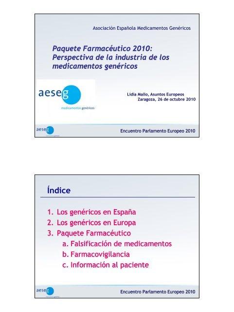 Indice de medicamentos genericos