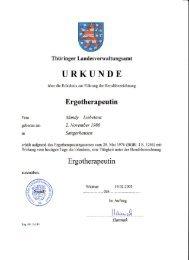 Übersicht der Zertifikate als PDF - Ergotherapie Celle - Mandy ...