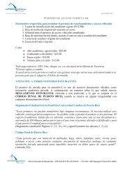PERMISO DE ACCESO VEHICULAR Documentos requeridos para ...