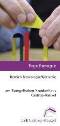 Ergotherapie - bei der Ev. Krankenhausgemeinschaft Herne