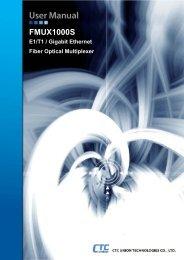 FMUX1000S User Manual - CTC Union Technologies Co.,Ltd.