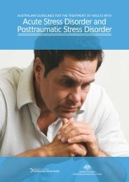 Australian Guidelines for the Treatment of Adults with Acute Stress ...