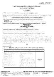 DoP PED0014 CORNI STAR 464-564 EN 1125_ita.pdf - ASSA ABLOY