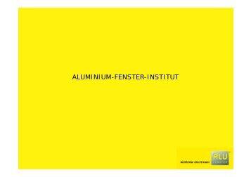 Marke ALU-FENSTER - Aluminium Fenster Institut
