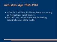 Industrial Age 1865-1910 - Mattawan Consolidated School