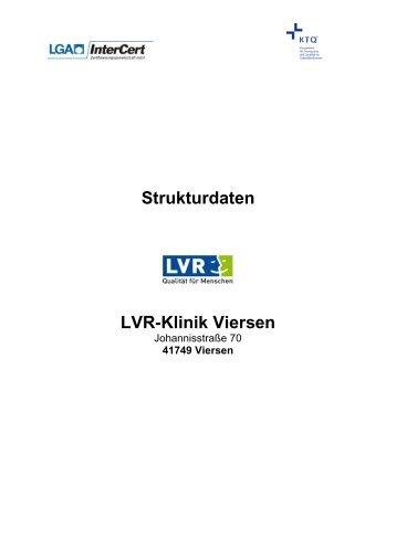 Strukturdaten LVR-Klinik Viersen - KTQ