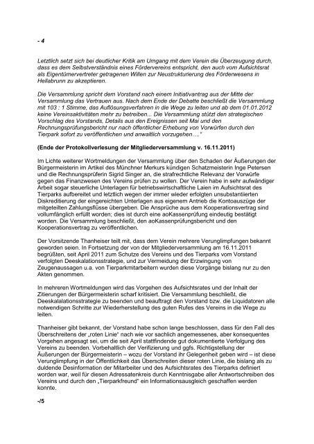 Mitgliederversammlung der TPF am 04 - Tierparkfreunde ...