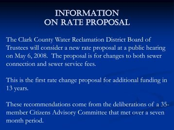 Rate Proposal - Clark County Water Reclamation District