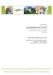 Qualitätsbericht 2010 - Park-Klinik Bad Nauheim