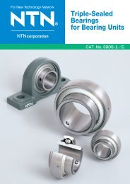 Triple-Sealed Bearings for Bearing Units - NTN
