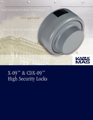 X-09™ & CDX-09™ High Security Locks - Manton Security Ltd