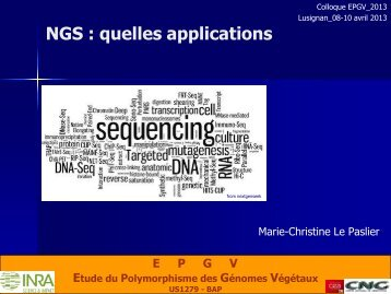 Introduction aux applications NGS: DNA/whole génome et ... - Inra