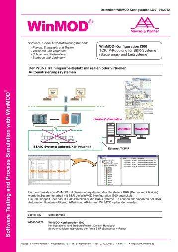 I300 für TCP/IP-Kopplung für B&R-Systeme - WinMOD