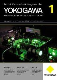 Eine neue Kundenzeitschrift - Yokogawa