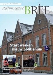 stadsmagazine Start werken nieuw politiehuis - Stad Bree