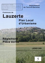 Règlement du PLU - Lauzerte