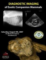 Diagnostic Imaging of Exotic Companion Mammals - AEMV