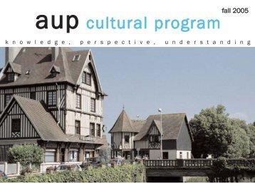 aup cultural program - Ac.aup.fr - The American University of Paris