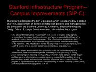Stanford Infrastructure Program - Stanford University