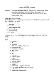 Protokoll Konvent treffen am 26.1.2010 Anwesend: Klaas ...