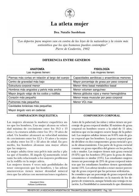 La Atleta Mujer Asociaciã N Argentina De Traumatologãa Del