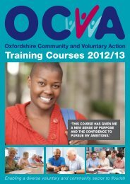 Training courses 2012/13 - OCVA