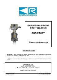 explosion-proof paint heater one-pass - Kremlin Rexson Sames