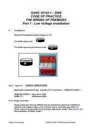 SANS 10142-1 : 2008 CODE OF PRACTICE THE ... - Surgetek