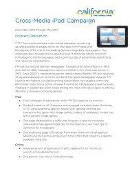 Cross-Media iPad Campaign