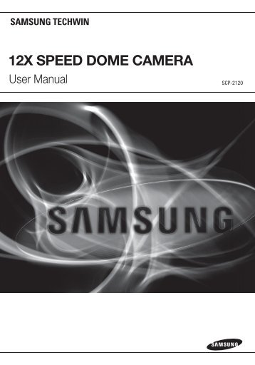 12X SPEED DOME CAMERA - Samsung