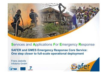 Services and Applications For Emergency Response