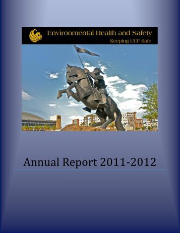 Annual Report of Activities - UCF Facilities and Safety