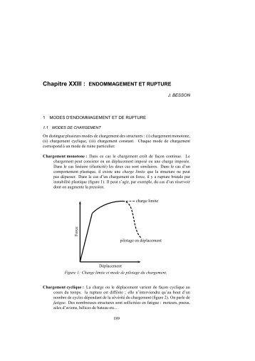 ENDOMMAGEMENT ET RUPTURE - Mécanique Matériaux Structure