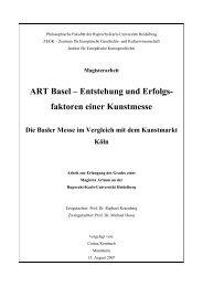 ART Basel – Entstehung und Erfolgs- faktoren einer ... - Galerie Hilt
