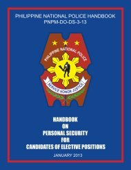 Handbook on Personal Security for Candidates of Elective Positions