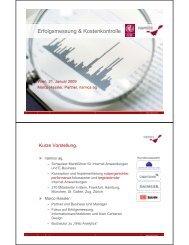 Erfolgsmessung & Kostenkontrolle - Web Analytics nutzen
