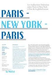 Synthèse de l'étude Paris - New York - Le Motif