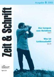 Heft 6/2005 - Zeit & Schrift