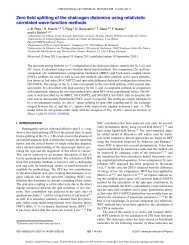Zero field splitting of the chalcogen diatomics using relativistic ...